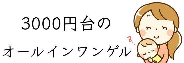 3000円台 オールインワンゲル