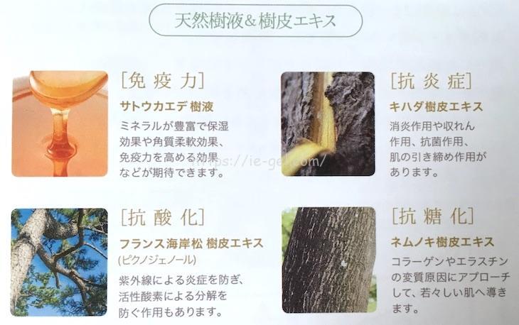 ストレピアには樹液が使われている